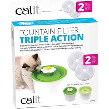 The Catit Triple Action Fountain Filters Are Not Designed To Cure Any Disease Or Illness, However These Filters Do Help Remove Bacteria And Chlorine Odors And Filter Out Debris. The Filters Help Soften The Minerals Like Magnesium And Calcium In The Tap Wa