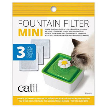 The Catit Mini Fountain Filters Collects Large Particles And Debris, While The Activated Carbon Helps Reduce Odors And Absorbs Impurities. The Catit Mini Fountain Filters Are To Be Used With The Catit Mini Flower Fountain (#43735w) And Need To Be Replaced