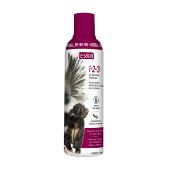 Combining Rosemary Oil With Gentle Cleansing Agents, Le Salon 1-2-3 De-skunking Shampoo Neutralizes And Completely Eliminates Skunk Odor In Just 3 Simple Steps! The Natural, Sulfate-free Formula Gently Cleans Without Causing Damage And Rinses Clear With N