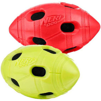 Nerf Dog Crunchable Squeak Football Dog Toy Is Made With A Durable Thermoplastic Rubber Exterior And A Crinkle Plush Interior With A Squeaker Inside To Provide Your Dog With Endless Hours Of Fun. Perfect For Playing Fetch, Tossing, Or Solo Play. Assorted