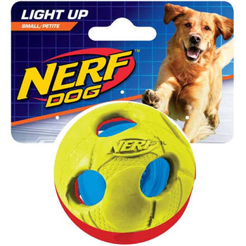 Nerf Dog Light Up Bash Ball Dog Toy, Small; Light Up Playtime With Your Energetic Pal With The Nerf Dog Light Up Bash Ball Dog Toy. This Unique, Bounce Fetch Toy Will Provide Hours Of Action-packed Fun Thanks To A Flashing Led Light Inside That Makes Runn