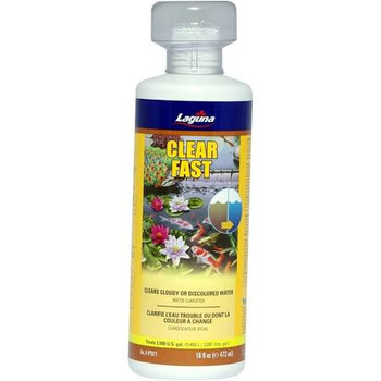Laguna Clear Fast Contains A Special Fast-acting Formula That Quickly Clears Cloudy Or Discoloured Pond Water And Eliminates Pea-soup-like Water Conditions. It Also Helps Clump Debris, Making It Easier For Removal By Mechanical Filtration. Clear Fast Is S