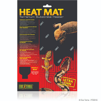 Reptiles And Amphibians Are Cold-blooded And In Their Natural Habitat They Often Use Surfaces Heated By The Sun To Warm Up. The Exo Terra Heat Mat Is A Terrarium Substrate Heater That Simulates These Surfaces Heated By The Sun.   Exo Terra's Heat Mats Are