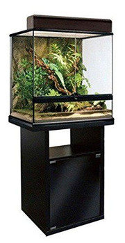 The Elegantly Designed Exo Terra Terrarium Cabinets Are The Perfect Complement To The Exo Terra Terrariums. Finished In Contemporary Black With Smoked Tempered Glass Doors, These Cabinets Will Show Off Your Terrarium Beautifully. The Soft Touch Magnetic L