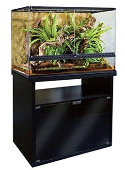 The Elegantly Designed Exo Terra Terrarium Cabinets Are The Perfect Complement To The Exo Terra Terrariums. Finished In Contemporary Black With Smoked Tempered Glass Doors, These Cabinets Will Show Off Your Terrarium Beautifully.   The Soft Touch Magnetic
