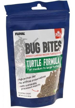 Fluval Bug Bites Turtle Formula Is Formulated To Meet The Needs Of Insect-eating Turtles. These Nutritious Floating Sticks Are Highly Palatable, Rich In Protein, And Fortified With Vitamins, Minerals, And Other Trace Nutrients To Promote Overall Health An