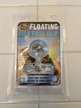 Zoo Med #;s Floating Fish Food Clip is great for Cichlids, Catfish and many types of marine fish. Easy way to feed veggies to your fish!