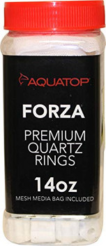 AQUATOP #;s FORZA Premium Quartz Rings provide a massive surface area for the intensive colonization of beneficial bacteria to grow. Made from sintered (heated and compressed) inert quartz, beneficial bacteria grow and colonize in the pores of the quar