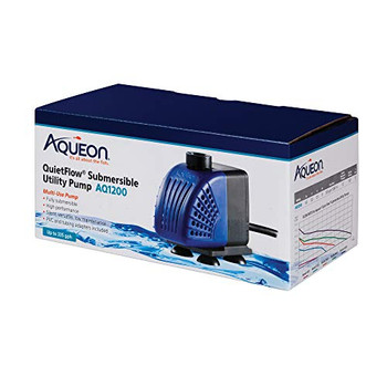 The Aqueon Submersible Utility Pumps are silent, versatile and low maintenance. They are ideal for a variety of uses, from household fountains, to aquarium sumps, to powering extra filtration. Models AQ400 and AQ1200 have adjustable flow rates; models AQ3000 and AQ4000 have a low water level intake connector.ÿ Models AQ1200 through AQ4000 come with PVC and tubing adapters.