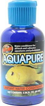 AquaPure- Instant Water Conditioner: Water conditioner for all fresh and saltwater aquariums and paludariums. Instantly remove Chlorine and Chloramines. Removes Ammonia and helps prevent its accumlation. Stimulates slime coat development providing a natural protective barrier. Stabilizes PH. Safe for use with all fresh and saltwater pets.