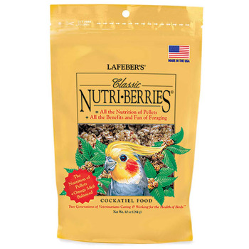 Lafeber Classic Nutri-Berries Cockatiel Bird Food 10oz
