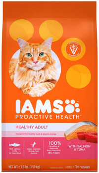 Iams ProActive Health Adult Salmon & Tuna Dry Cat Food 3.5lbs