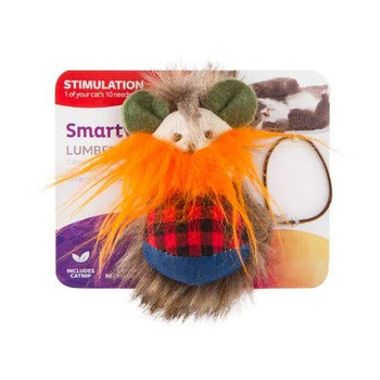 Smarty Kat lumber mouse cat toy has a long fuzzy beard tickles cats as they play. Plush prey-like tail and hair, felt ears and long tail offers multiple textures attracting cats to hunt and play. Contains our pure and potent Smarty Kat catnip produced without chemicals or pesticides. For most cats catnip provides a burst of energy followed by a perfectly calm period Smarty Kat gives pet parents the best of all worlds: innovative products, stylish designs, environmental responsibility, and exceptional value with a variety of toys to meet a cats need for play, scratching, wellness, retreat, rest, and fun! Smarty Kat products are designed to meet child safety standards and are backed by our 100% satisfaction . If a customer is dissatisfied with a Smarty Kat product for any reason, we will replace or refund it.