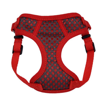 Coastal Pet Comfort Soft Sport Wrap Adjustable Dog Harness Grey & Red 5/8