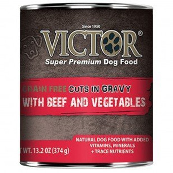 Victor Grain Free Beef & Vegetable in gravy-Canine 13.2oz