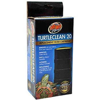 Replacement cartridge for TC-23 TurtleClean 20 filter. Removes dirt and debris from your aquarium. Improves water clarity. Easy to clean/resuable. Activated carbon included.