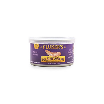 Fluker's Gourmet Canned Soldierworms 1.2oz