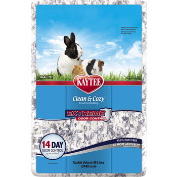 Kaytee Clean & Cozy Extreme Odor Small Animal Bedding 40L