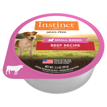 High animal protein - grain-free recipe guided by our belief in raw - Instinct Real Beef Recipe for Small Breed dogs unlock your dog's potential to thrive.