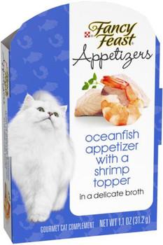 Fancy Feast Appetizers Ocean Fish/Shrimp Topper 10/1.1Z