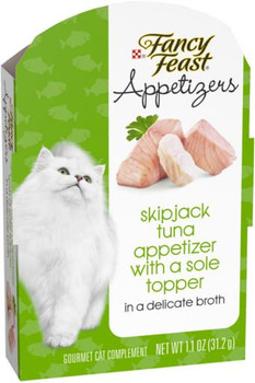 Fancy Feast Appetizers Skipjack Tuna Topper 10/1.1Z