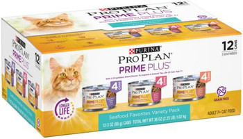 Pro Plan Adult 7+ Real Seafood Variety Cat 2-12/3Z