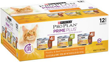 Pro Plan Adult 7+ Real Poultry & Beef Variety Cat 2-12/3Z
