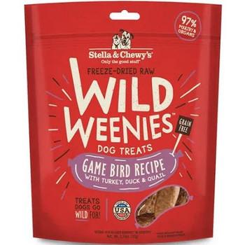 Stella & Chewie's Wild Weenies Game Bird Recipe 3.25oz {L+1x} 860293