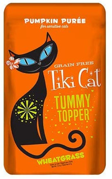 Tummy Topper is a simple nutritious blend of pumpkin and wheatgrass that helps promote healthy digestion and soothe sensitive stomachs Delicious by itself or as a topper Features. GMOfree pumpkin puree. With supplemental wheatgrass to ease digestive upset. Convenient single serving pouches. Pack of 12Ingredients. Pumpkin water sufficient for processing wheatgrassSpecifications. Capacity 15 oz. Flavor Pumpkin Puree Wheatgrass