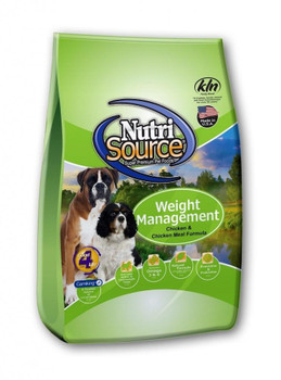 Made For Heavier And Less Active Pups,nutrisource Weight Management Chicken And Chicken Meal Dry Dog Food Offers A Low Fat And Easy To Digest Recipe. High Quality Ingredients Like Humane Certified Chicken Are Used In Addition To The Added Chondroitin And