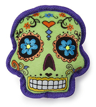 Dia de los Muertos Fun! goDog plush line's new trendy addition is sure to inspire festivity along with pup play time. Bright color and shapes with limited stuffing. We have used a puncture proof squeaker and Chew Guard Technology to stand up to tough play! goDog plush dog toys are designed to be stronger and last longer, no matter how your dog plays. These soft plush toys are made more durable with Chew Guard Technology which is a special manufacturing process that adds a super tough and durable lining to soft plush toys. goDog gives pet parents the best of all worlds: innovative products, stylish designs, environmental responsibility, and exceptional value with a variety of toys and beds to meet a dog's needs for play, retreat, rest, and fun! goDog products are designed to meet child safety standards and are backed by our 100% satisfaction guarantee.