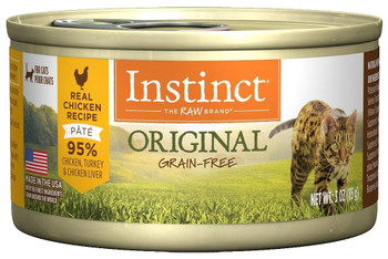 Nature's Variety Instinct Grain-free Chicken Formula Canned Cat Food Is Made With Real Chicken, Fruits, And Vegetables For The Ultimate Protein Packed Meal. Healthy Omega Fatty Acids Maintain A Glossy Skin And Coat, Plus Real Chicken For Flavor And Protei