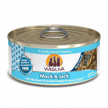Your Cat Deserves The Catch Of The Day. With Weruva Mack And Jack With Mackerel And Grilled Skipjack Canned Cat Food, They're Getting Exactly That.  With Skipjack As The Most Consumed Type Of Tuna In The World, Your Cat Is Guaranteed To Love This Recipe.