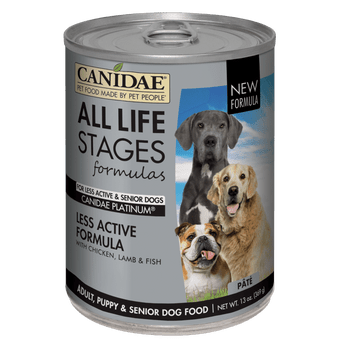 Canidae All Life Stages Wet Food Recipes Are Formulated For All Dogs. That Makes Mealtimes For Multiple Dog Households Much Easier Than Dealing With Multiple Cans Of Different Foods. Single Dog Households Will Also Enjoy The Bene-‹-ª-ts Of One Can For Al
