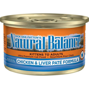 Natural Balance Chicken And Liver Pate Canned Cat Food Provides Complete And Balanced Nutrition For Cats In All Stages Of Life! Made With High Quality Protein For Optimal Muscle Support As Well As Skin And Coat Support. Natural Balance Chicken And Liv
