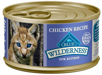 Blue Buffalo Wilderness Kitten Recipe Canned Cat Food Is A Grain-free, Nutrient Rich Wet Food That Will Satisfy Your Kittens Wild Side!  Loaded With More Tasty Salmon To Supply The Protein Your Kitten Craves. Blue Buffalo Wilderness Kitten Recipe Cann