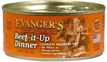 Evangers Beef It Up Beef Canned Cat Food-5.5-oz, Case Of 24-{L+1}