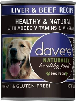 Dave's Naturally Healthy Liver And Beef Canned Dog Food-13-oz, Case Of 12-{L-tx}
