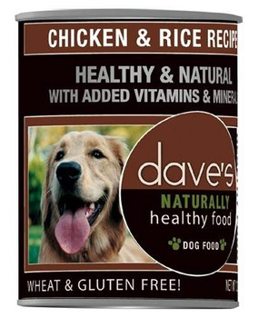 Dave's Naturally Healthy Chicken And Rice Canned Dog Food-13-oz, Case Of 12-{L-tx}