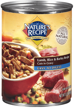 Nature's Recipe Easy To Digest Lamb Rice And Barley Cuts In Gravy Canned Dog Food-13.2-oz, Case Of 12-{L-1}
