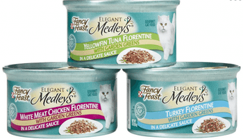 Fancy Feast Elegant Medleys Florentine Variety Pack Canned Cat Foodelegant Medleys Set A High Standard For Cat Cuisine. We Feature Delicious Flavor Combinations In Sophisticated Recipes Like Florentine In A Delicate Sauce Accented With Spinach. Balanced N