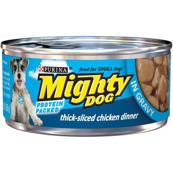Purina Mighty Dog Thick-sliced Chicken In Gravy Canned Dog Food-5.5-oz, Case Of 24-{L+1}