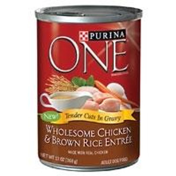 When Your Dog Rushes To The Dinnertime Food Dish, He Or She Wants A Flavorful And Satisfying Meal Like The Formulas From Purina One. Purina One Wholesome Chicken And Brown Rice Entrte Tender Cuts In Gravy Canned Dog Food Provides A Satisfying Meal With Te