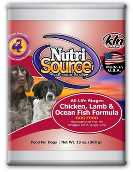 Nutrisource Adult Chicken Lamb And Oceanfish Canned Dog Food Uses Farm Fresh Chicken, Lamb, And Other High Quality Ingredients To Create An Easy To Digest Pate Canned Food For Your Pup! This Recipe Also Has Added Prebiotics And Highly Digestible Minerals