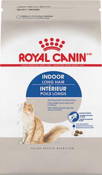 Royal Canin Feline Health Nutrition Indoor Long Hair Dry Cat Food-3-lb-{L-1}