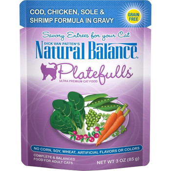 Natural Balance Platefull's Cat Food Pouches Are Tasty Treats Packed With All The Nutrients Your Cat Needs. Platefull's Cat Food Pouches Are Formulated To Provide Your Pet With A Healthy And Balanced Meal In Many Great Flavors. Entirely Grain-free, This F