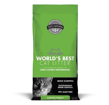 With outstanding odor control and tight clumping ability, this Clumping Formula is idea for homes with 1 or 2 cats.  It is the only litter that uses concentrated power of whole-kernel corn to guarantee long lasting performance and easy cleanup.  It is 99% dust-free and is pet, people and planet friendly.
