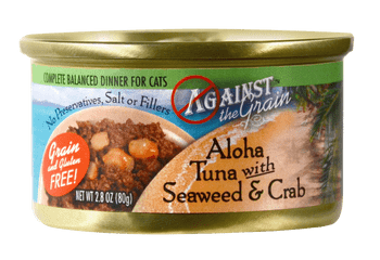 Against The Grain Aloha Tuna With Seaweed And Crab Canned Cat Food-2.8-oz, Case Of 24-{L-1}