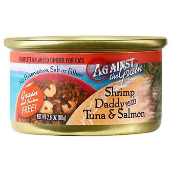 Against The Grain Shrimp Daddy With Tuna And Salmon Canned Cat Food-2.8-oz, Case Of 24-{L+1}