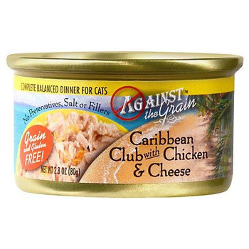 Against The Grain Caribbean Club With Chicken And Cheese Canned Cat Food-2.8-oz, Case Of 24-{L+1}